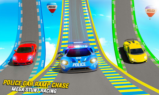 Police Car Racing Stunts 3D : Mega Ramp Car Games 3.8 screenshots 2