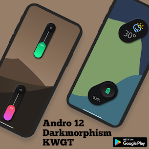 Andro 12 Darkmorphism KWGT Apk [PAID] Download 8