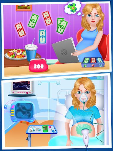 Mom & newborn babyshower - Babysitter Game  screenshots 2