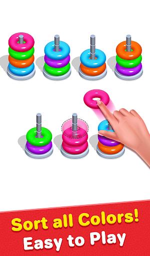 Color Hoop Sort - Sort it Puzzle - Hoop Stack screenshots 1