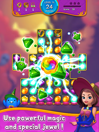 Jewel Witch - Best Funny Three Match Puzzle Game 1.8.2 screenshots 15