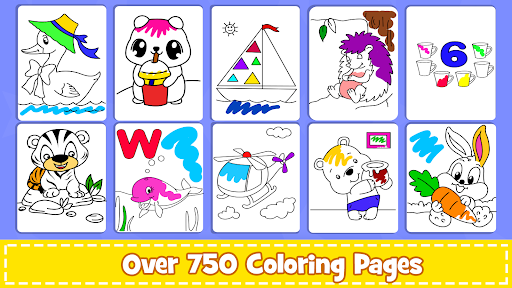 Coloring Games : PreSchool Coloring Book for kids apktreat screenshots 1