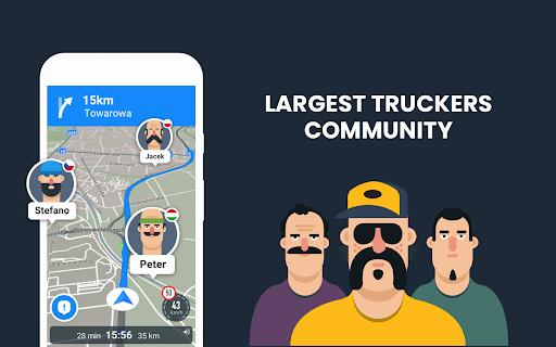 RoadLords - Free Truck GPS Navigation android2mod screenshots 7