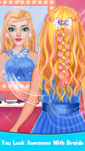 Braided Hairstyle Salon: Make Up And Dress Up  screenshots 7