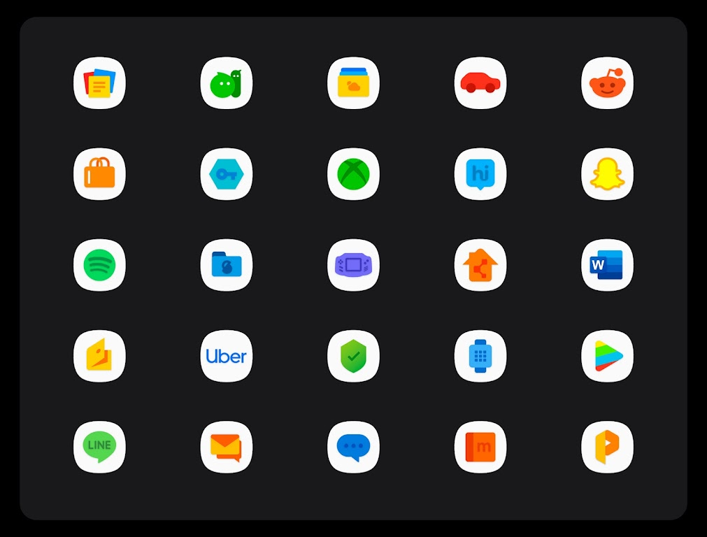OneUI 3 White - Icon Pack  poster 14