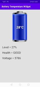 Battery Temperature Widget 1