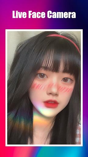 Live Face Camera Free Cute s Funny Motion Sticker 1.0.0 Screenshots 8