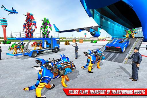 us police tiger robot game: police plane transport screenshot 2