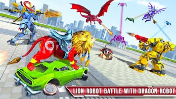 Royal Lion Robot Games- Dragon Robot Transform War