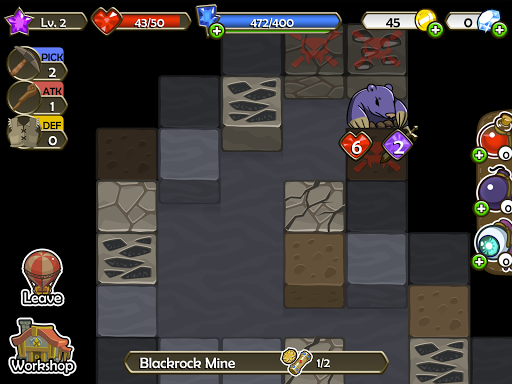 Mine Quest - Crafting and Battle Dungeon RPG apkslow screenshots 12