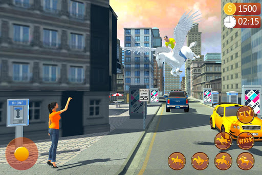 Flying Horse Taxi Driving: Unicorn Cab Driver  screenshots 6
