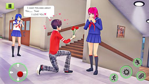 High School Girl Simulator 3D: Anime School Games  screenshots 1