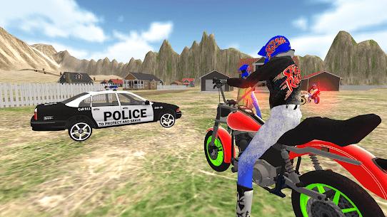 Gerçek motorsiklet yarışı-polis oyunu 2019 Apk Son Sürüm 2021 5