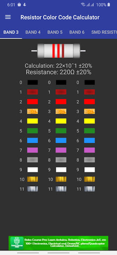 Resistor Color Code Calculator with SMD Resistor 3.3.8 screenshots 1