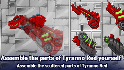 T-Rex Red - Combine! Dino Robot : Dinosaur games 2.1.9 screenshots 1