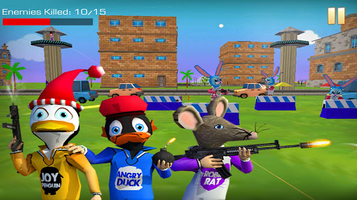 Shooting Pets Sniper - 3D Pixel Gun games for Kids 14 screenshots 2