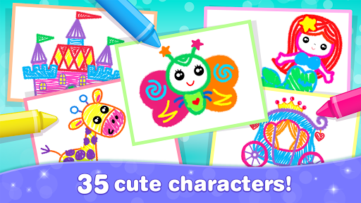 Kids Drawing Games for Girls! Apps for Toddlers!  screenshots 7
