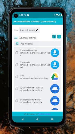personalDNSfilter - block tracking, malware & more android2mod screenshots 6