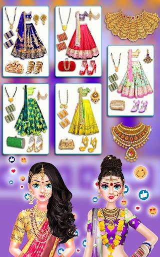 Indian Bride Stylist Dressup & Beauty Makeup Game screenshots 5