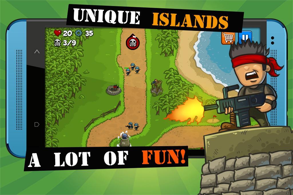 Island Defense: Offline Tower Defense  poster 2