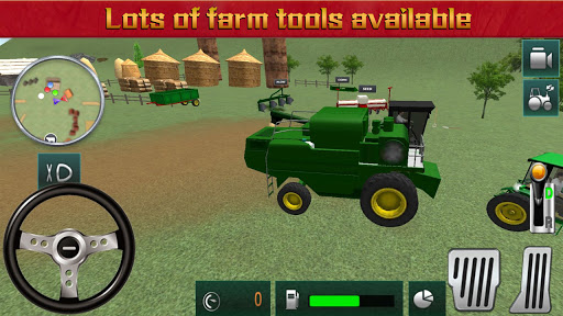 Farmeru00a0Harvestu00a0Simulatoru00a03Du00a0-u00a0Tractoru00a0Hauling  screenshots 1