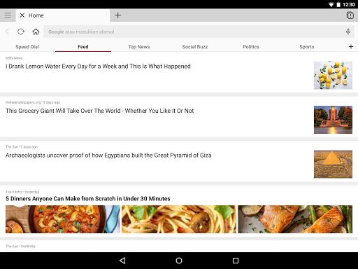Browser Opera dengan VPN gratis