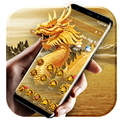 Golden dragon launcher theme &wallpaper