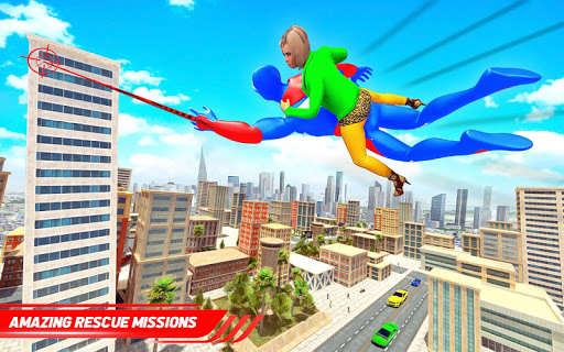 Flying Police Robot Rope Hero: Gangster Crime City 21 screenshots 7
