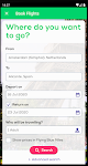 screenshot of Transavia