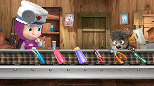 Masha and the Bear: Free Dentist Games for Kids android2mod screenshots 9
