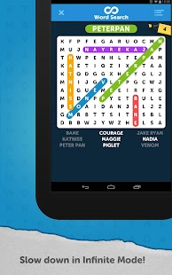 Infinite Word Search Puzzles Screenshot