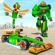 Dragon Fly Robot Transform Games: Robot Car Game