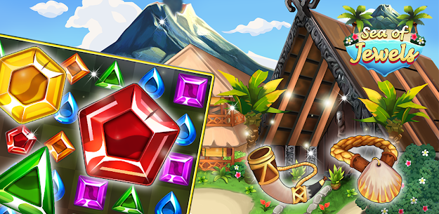 Sea of Jewels : Aloha ! Match3 puzzle 9