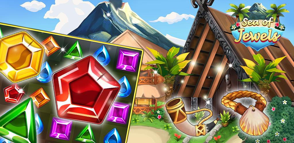 Sea of Jewels : Aloha ! Match3 puzzle
