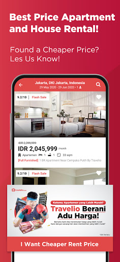 Travelio - Sewa Apartemen Harian Bulanan & Villa 2.35 screenshots 1