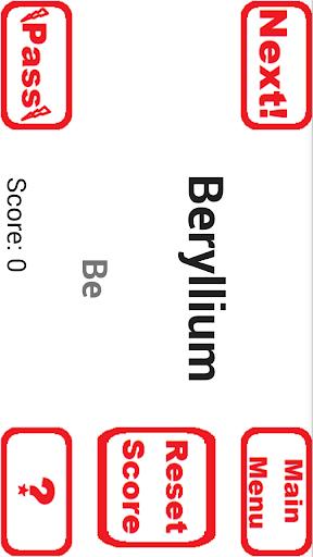 periodic table study game screenshot 3
