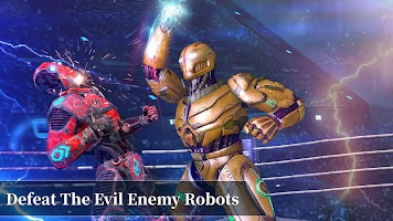 Robot Fighting Games - New Steel Robot Ring Battle