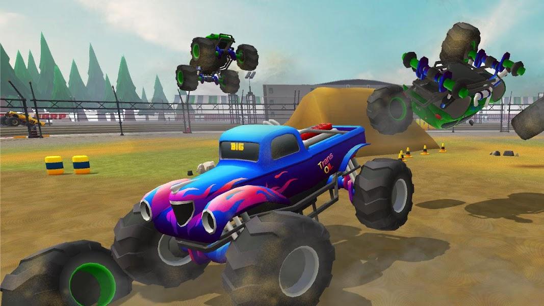 Monster Trucks Rival Crash Demolition Derby Game