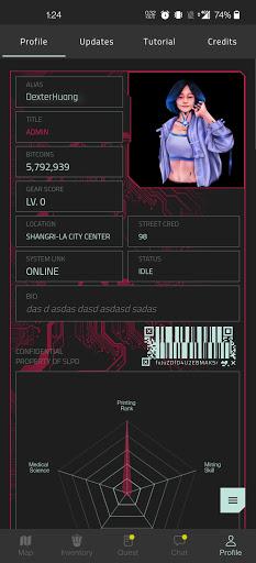 CyberCode Online   Cyberpunk Text Based MMO RPG Apkfinish screenshots 3