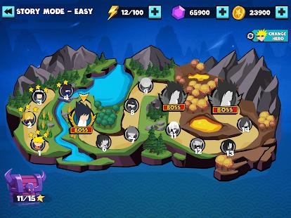 Stickman Shinobi: Στιγμιότυπο οθόνης Ninja Fighting
