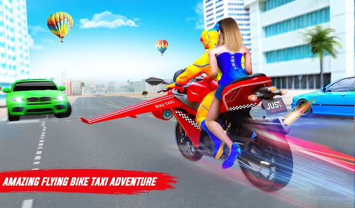 Superhero Flying Bike Taxi Driving Simulator Games 11 Screenshots 15