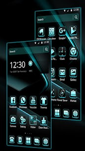 Black Cyan Simple Theme For Pc | How To Download – (Windows 7, 8, 10, Mac) 3