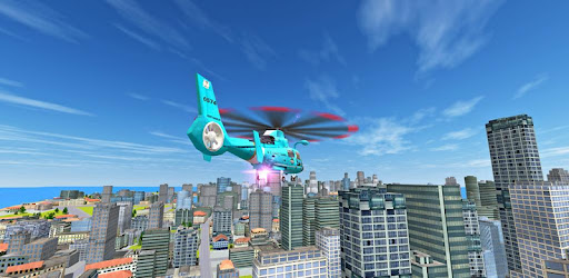Screenshot of City Helicopter Flight