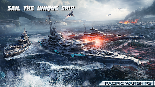 Pacific Warships: Online 3D War Shooter MOD (Unlimited Bullets) 3