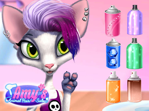 Amy's Animal Hair Salon - Cat Fashion & Hairstyles android2mod screenshots 16