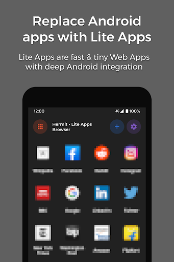 Hermit • Lite Apps Browser 16.6.8 screenshots 1
