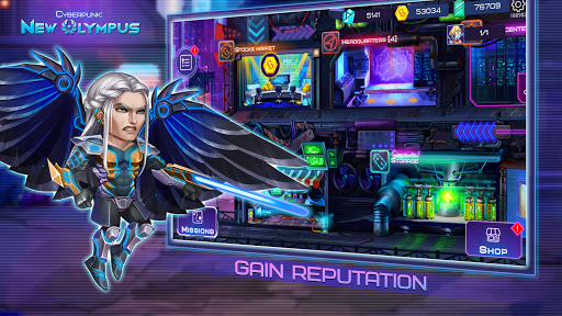 Cyberpunk: New Olympus Idle RPG 5v5 AFK battle apktram screenshots 8