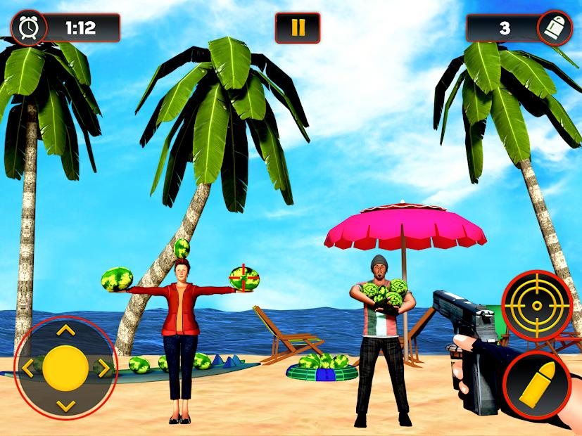 Captura de Pantalla 12 de Sandía Shooter Juego - Fruta del tiroteo para android