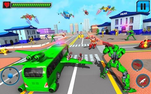 Flying Bus Robot Transform War Mod Apk- Police Robot (Dumb Enemy) 5