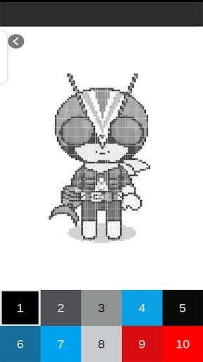 New Kamen Rider - Pixel Art android2mod screenshots 4